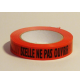 Adhesif Rlx Rouge pour emballage SCELLE NE PAS OUVRIR 25 mm x 100 m