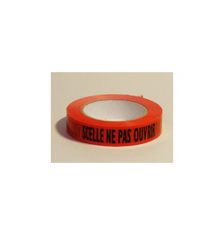 Adhesif Rlx Rouge pour emballage SCELLE NE PAS OUVRIR 25 mm x 100 m