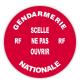 Rouleau 100 pastilles Diam.38 mm rouge H.securite (Gendarmerie Nationale)