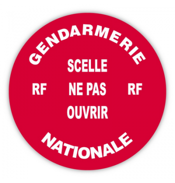 Rouleau 100 pastilles Diam.38 mm rouge H.securite (Gendarmerie Nationale)