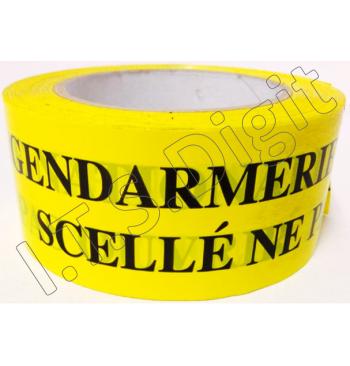 """Adhesif rouleau """"ne pas ouvrir"""" jaune GN (50 mm x 100 m)"""