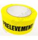 "Adhesif rouleau ""Prelevement - ne pas ouvrir"" jaune G (50 mm x 100 m)"