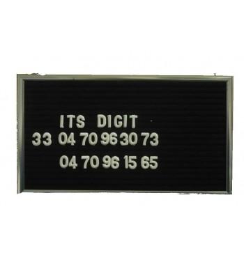 Ardoise signaletique en feutre 13 x 23 cm - lettres +numeros+chaine