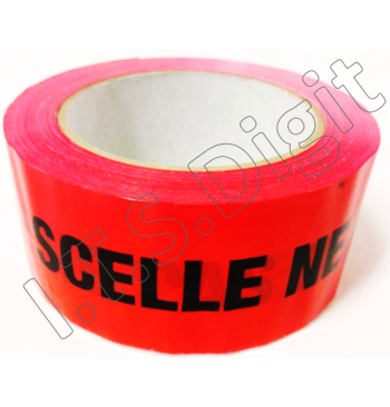 Adhesif Rlx Rouge pour emballage SCELLE NE PAS OUVRIR 50 mm x 100 m