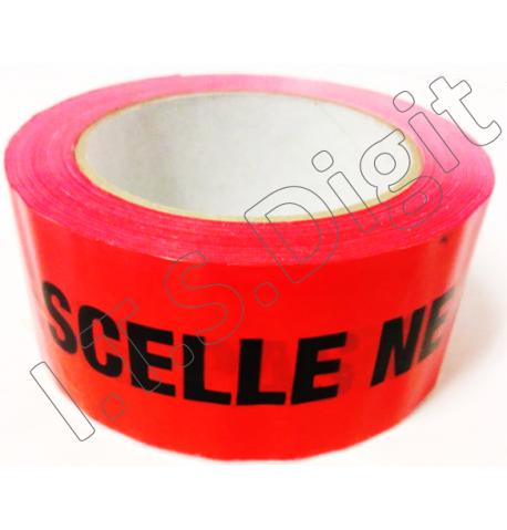 Adhesif Rlx Rouge pour emballage SCELLE NE PAS OUVRIR 50 mm x 100 m