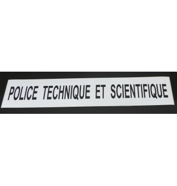 "Autocollant ""Police Scientifique"""