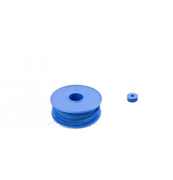 Bobine 100 m fil plastique bleu 0.30 x 0.60 / piece