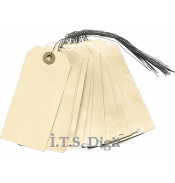 Etiquettes personnalisees cartonnees (7 x 14 mm) / 50