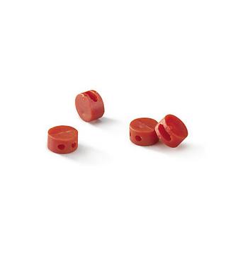 Scelle plastique rouge Diam.9 mm / 1000 pieces