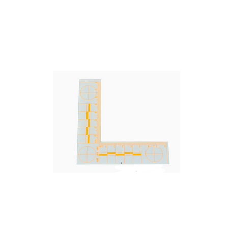 Equerre PVC millimetree ABFO 105 x 105 mm fluo orange