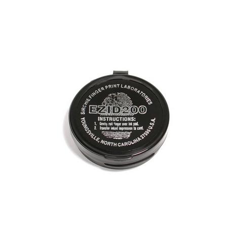 Tampon encre noire Ceramique DIAM. 4.2 cm 2000 prises Sirchie