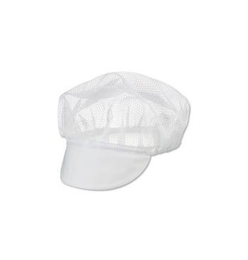 Charlottes polypropylene blanche avec visiere / 100