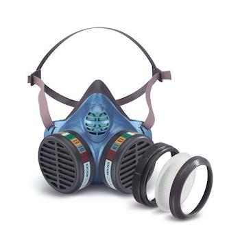 Demi masque reutilisable avec 2 filtres (FFP3 FFABEK1)