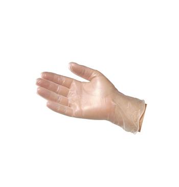 Gants vinyle non poudres courts taille (8/9) L / 100