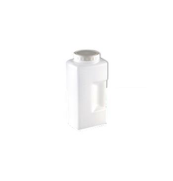 Bocal urine polyethylene gradue 2 L + couvercle vis blanc / Unite