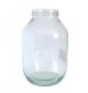 Bocal en verre transparent avec couvercle 2500 Ml