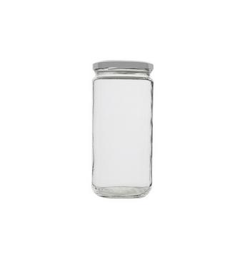 Bocal en verre transparent avec couvercle 950 Ml