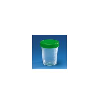 Pots 120 Ml avec couvercle (aseptique bouchon Vert)
