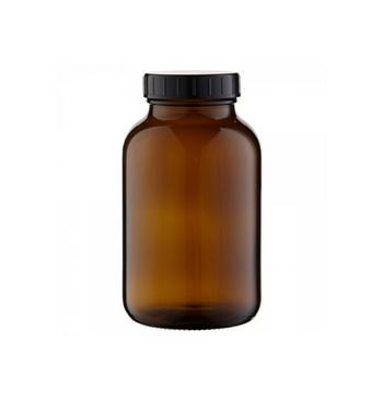 Flacon verre ambre 250 Ml avec bouchon et fermeture large / 10