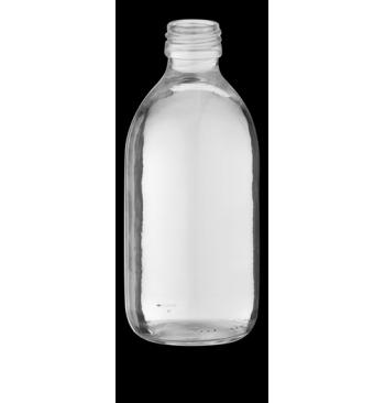Flacon 1 litre verre avec bouchon polyethylene