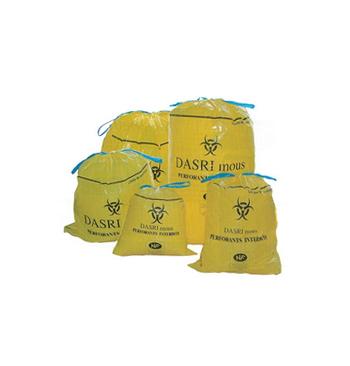 Sac poubelle DASRI jaune 100 litres 82x90 rouleau 25