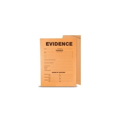 "Sac papier kraft securise ""Evidence"" 13.33x8.89x27.3  mm / 100"