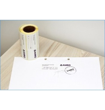 Etiquette de Securite 105 x 37 mm pour documents / Rlx 500