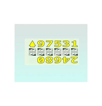 Carnet de numeros adhesifs de 1 a 9 / 25