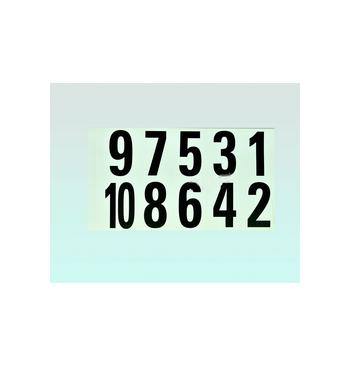 Carnet de numeros adhesifs de 1 a 10 / 25