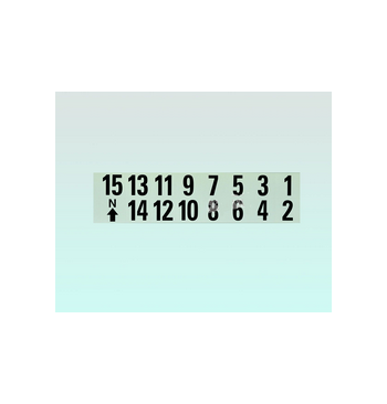 Carnet de numeros adhesifs de 1 a 15 / 25